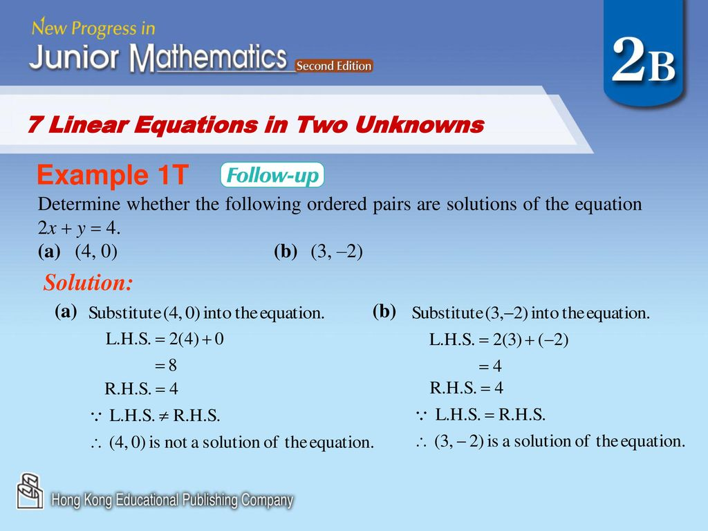 7 Linear Equations in Two Unknowns - ppt download