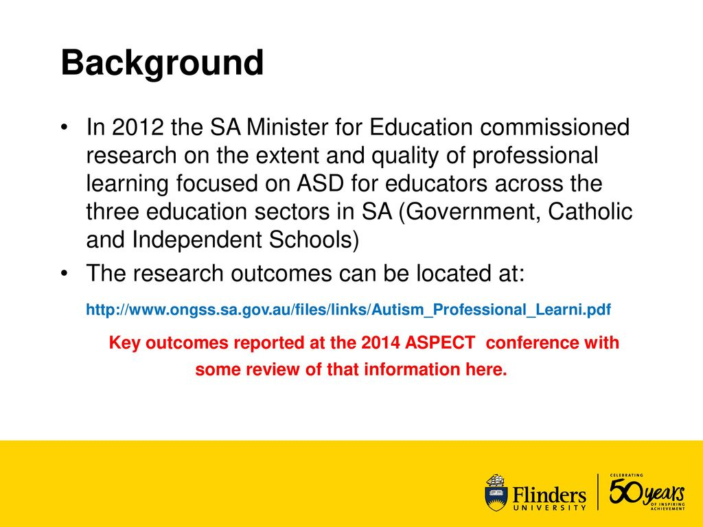 Asd Sa addressing gaps in asd professional learning in south