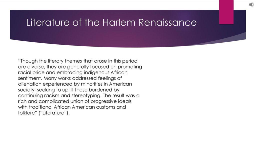 american renaissance literature themes