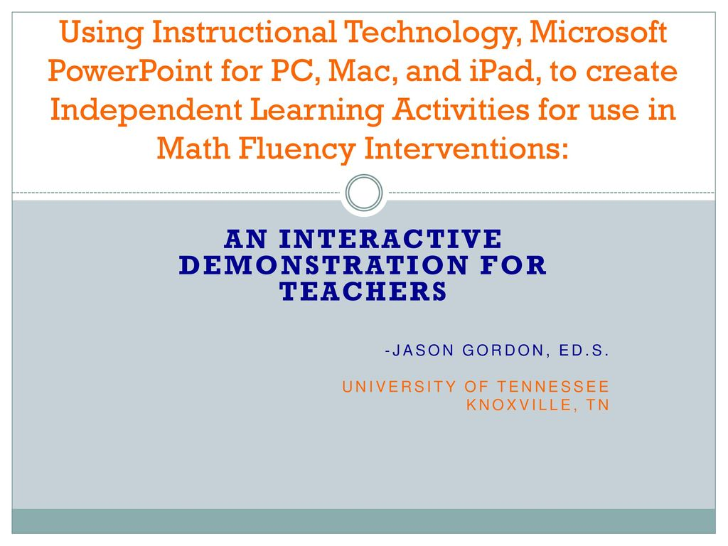 An Interactive Demonstration for Teachers - ppt download