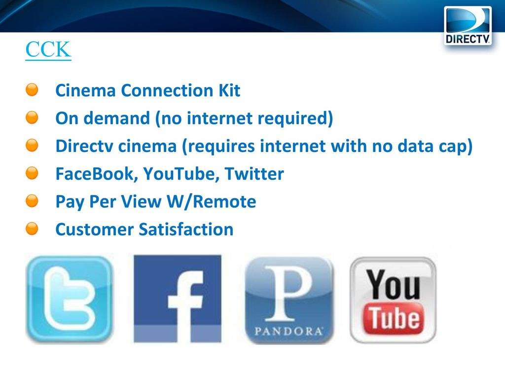 Directv Sales And Service Training Ppt Download Dtv Wiring Diagram Whole Home Dvr Internet Setup For Without Cck Cinema Connection Kit On Demand No Required