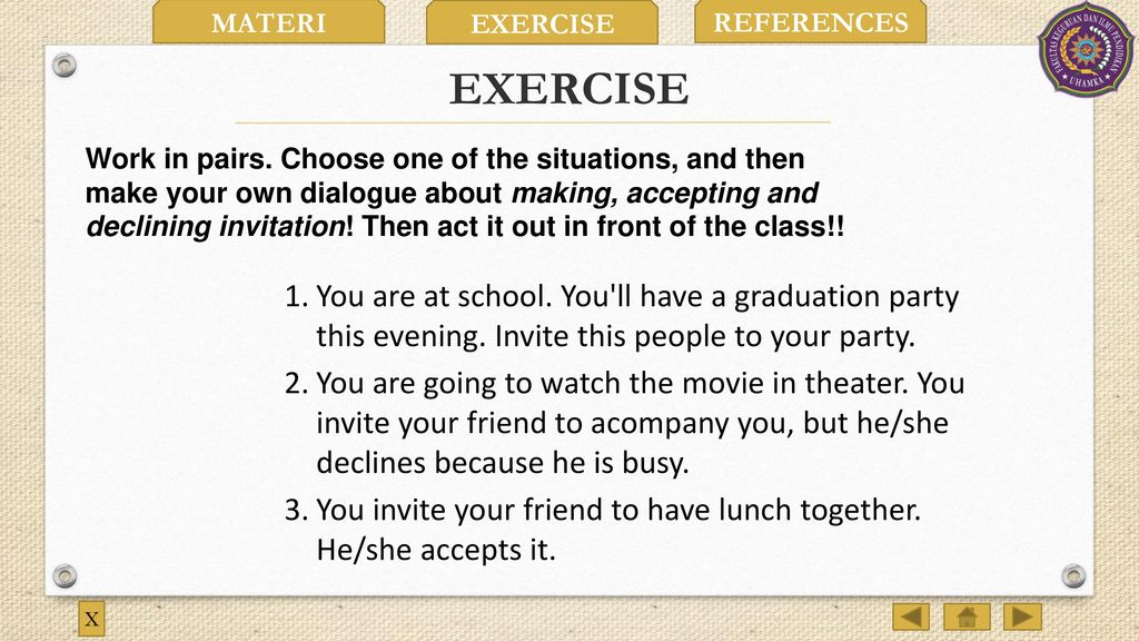 7 EXERCISE ...