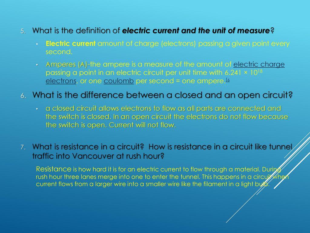 Electricity: current, Voltage, Resistance and circuits - ppt download