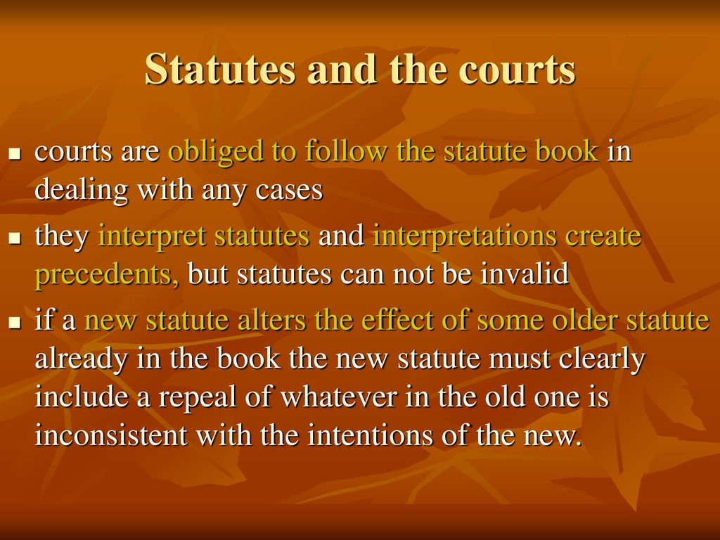 Statute Law in Britain (England, Wales and Scotland) - ppt download