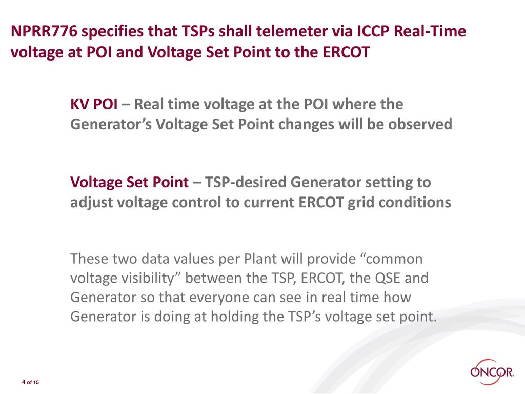 VOLTAGE PROFILE WORKING GROUP (VPWG) - ppt download