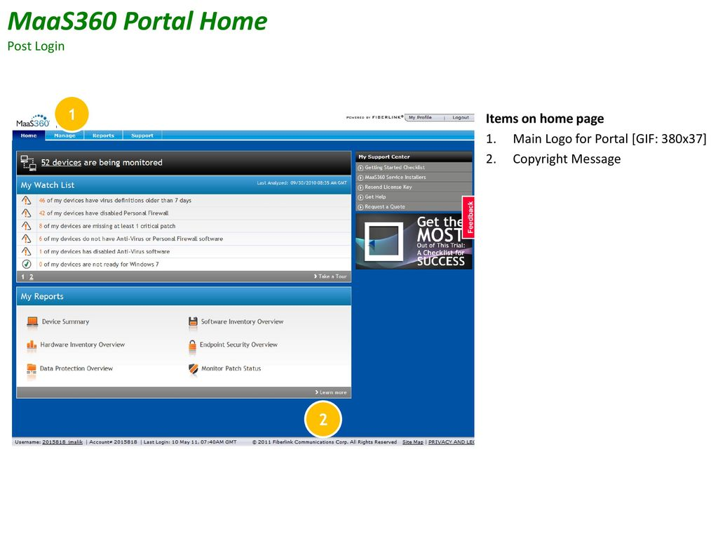 Partners – MaaS360 Portal Management - ppt download