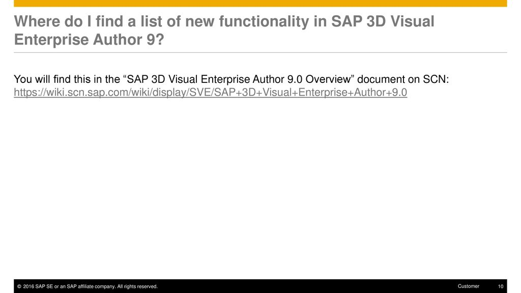 SAP 3D Visual Enterprise Author 9 Frequently Asked Questions