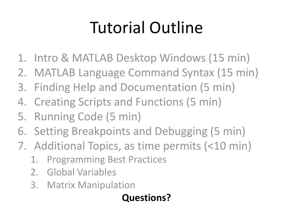 Getting Started with MATLAB - ppt download