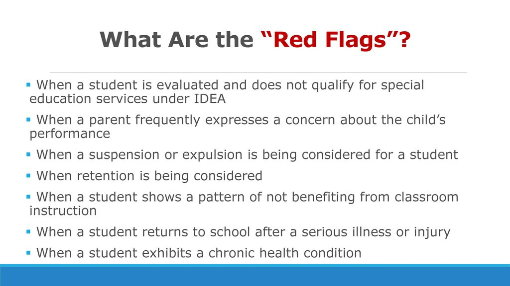 10 Red Flags In Special Education >> Section 504 Review And Updates Washington County School District