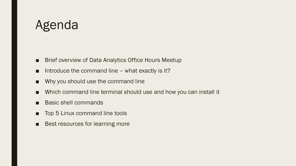 Introduction to the Command Line for Data Analysts Gus