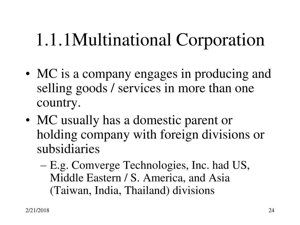 Multinational Corporate Finance (MCF) Dr - ppt download