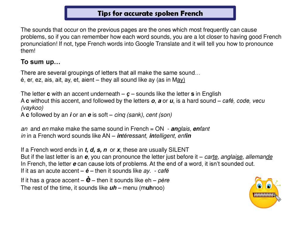 Français French for Parents  - ppt download