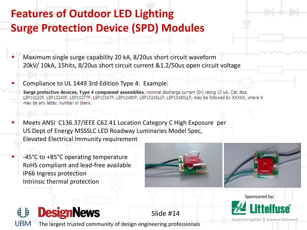 Keeping The Lights On Safeguard Led Lighting Ppt Download Battery Overvoltage Protection Ic Features Of Outdoor Surge Device Spd Modules