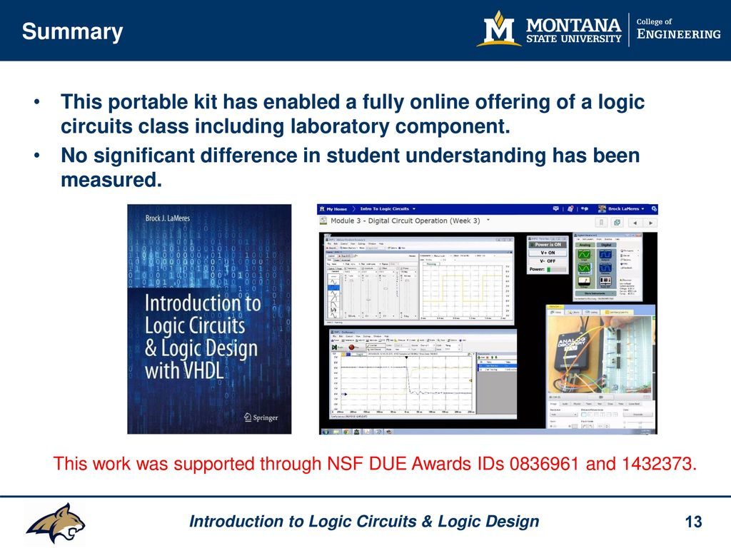 A Portable Lab Kit For Teaching Introduction To Logic Circuits Design Online Summary This Has Enabled Fully Offering Of Class Including