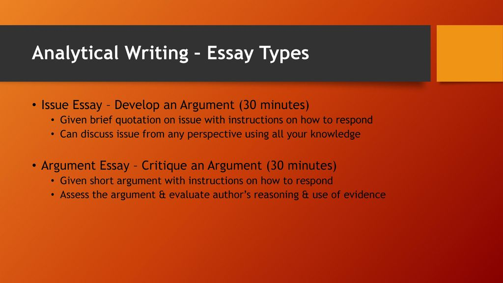 GRE ANALYTICAL WRITING Ppt Download