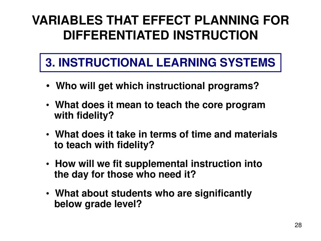 Differentiating Teacher Directed Instruction Ppt Download