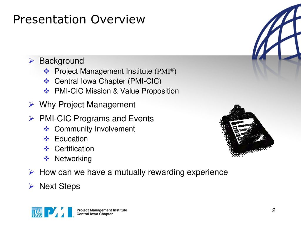 Presentation Overview Ppt Download