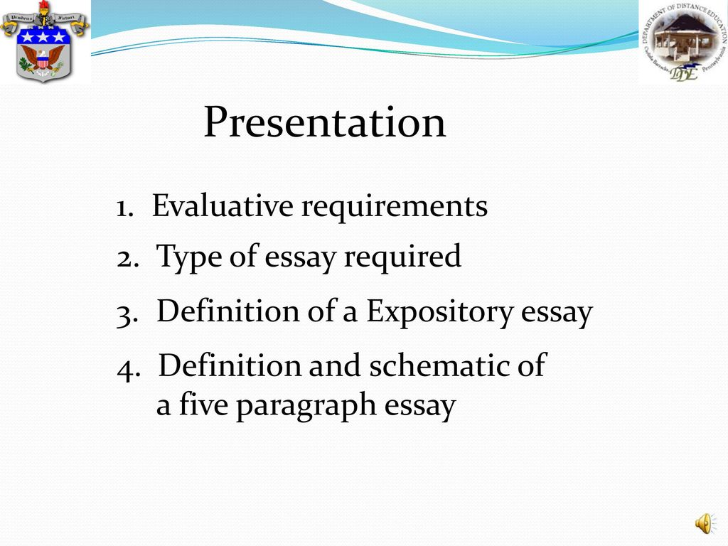 Techniques To Outlining  Ppt Download Presentation  Evaluative Requirements  Type Of Essay Required