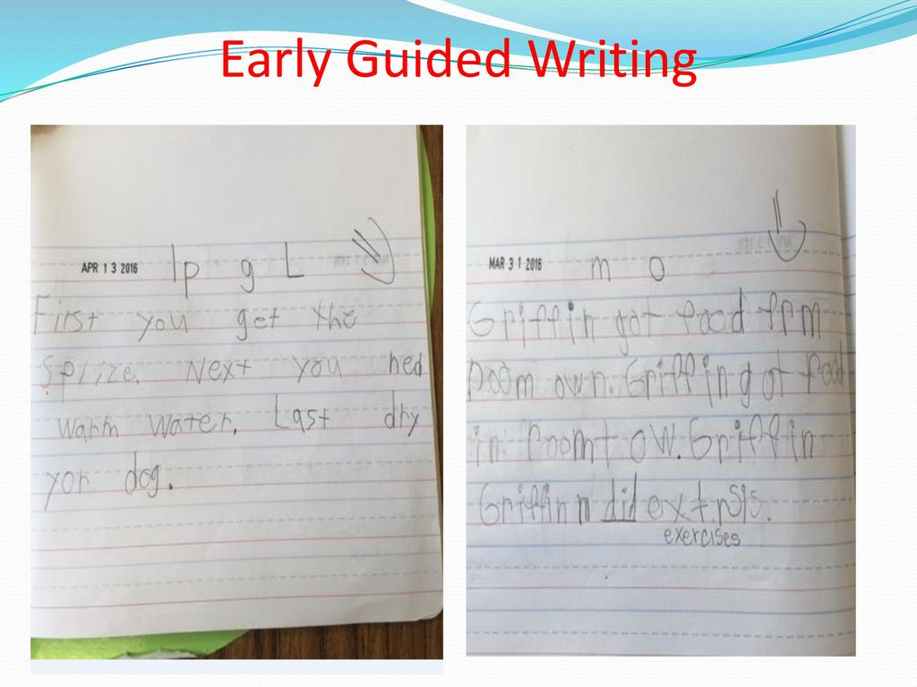 K-3 Guided Writing in the Guided Reading Group - ppt download
