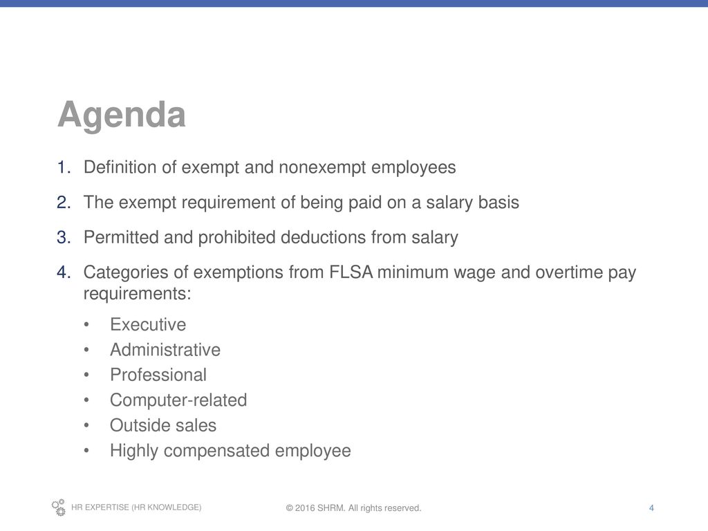 fair labor standards act training, part 4: exempt employees - ppt