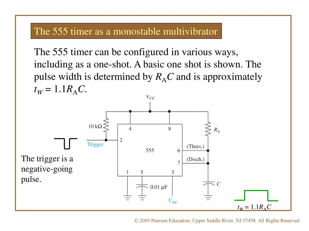 Eet 1131 Unit 13 Multivibrators And The 555 Timer Ppt Download Monostablemultivibrator As A Monostable Multivibrator