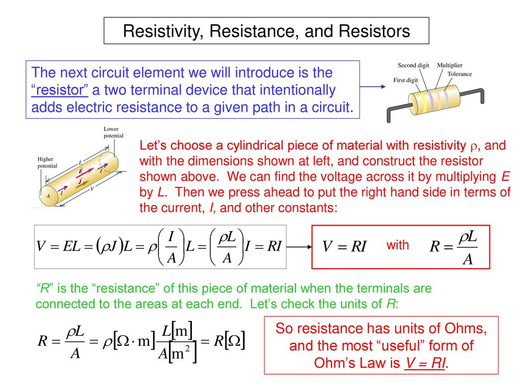 Electric Current Is The Rate Of Flow Charge Electrical Resistance And Resistors 11 Resistivity