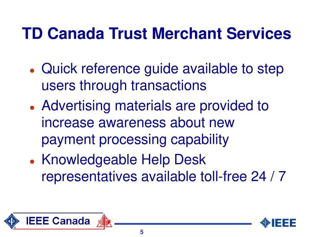 Merchant Credit Card Processing in Canada - ppt download