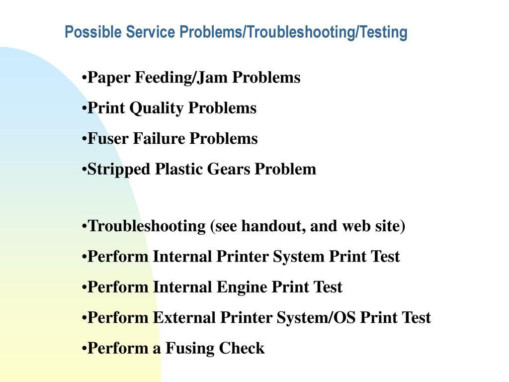 General HP LaserJet/DeskJet Printer Maintenance Training - ppt download