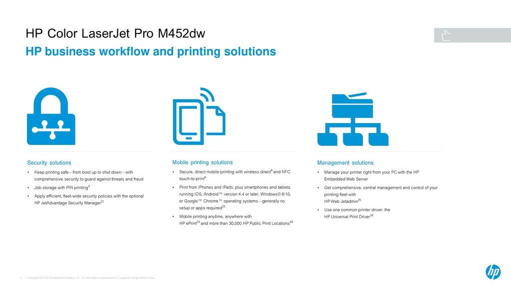 HP Color LaserJet Pro M452dw - ppt download