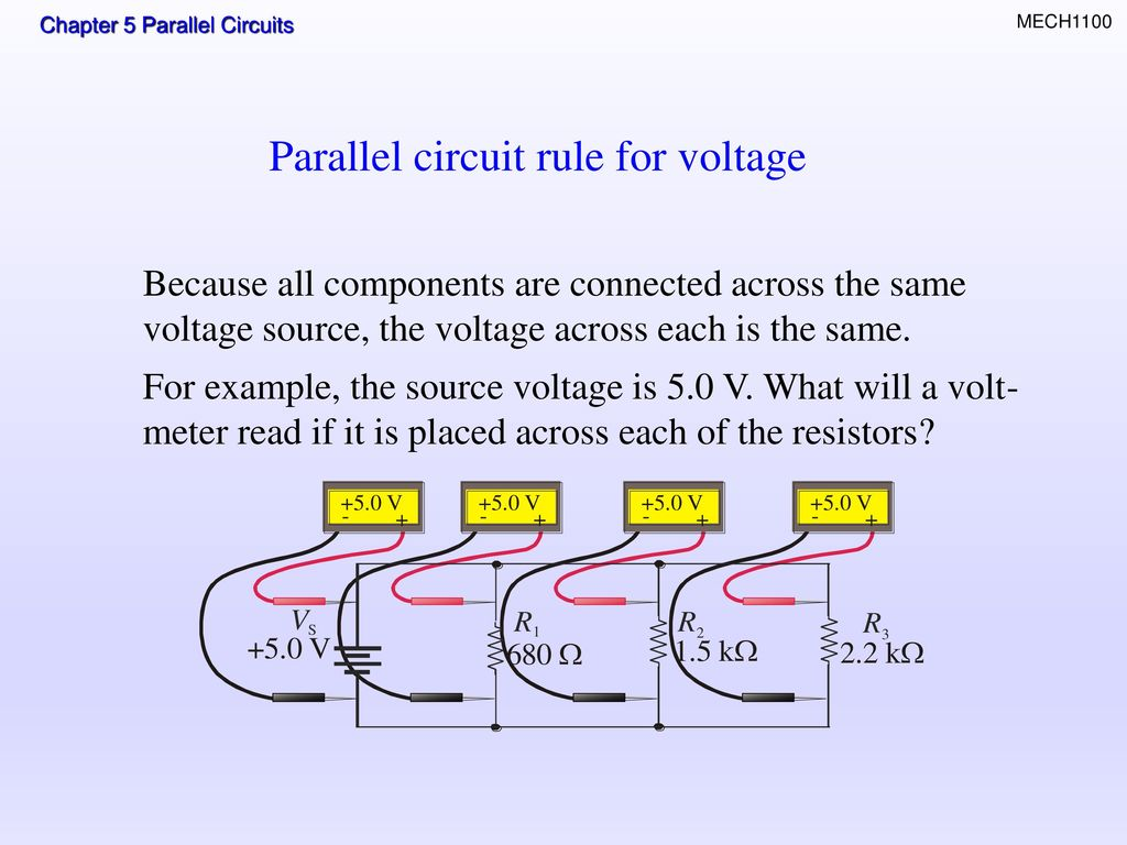 Parallel Circuit Examples Circuits Topics Resistors In Total Resistance Ppt Download Rule For Voltage