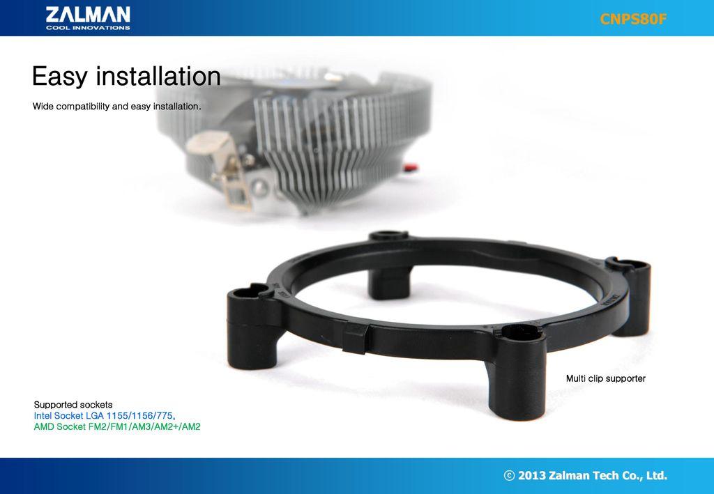 Zalman Cnps80f Ultra Quiet Cpu Cooler For Intel Lga 1155 1156 775 Amd Socket