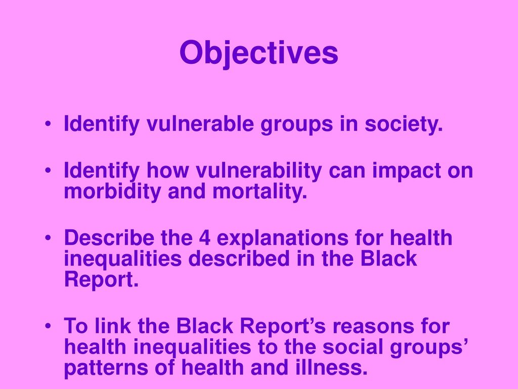 impact of social inequalities on groups in society
