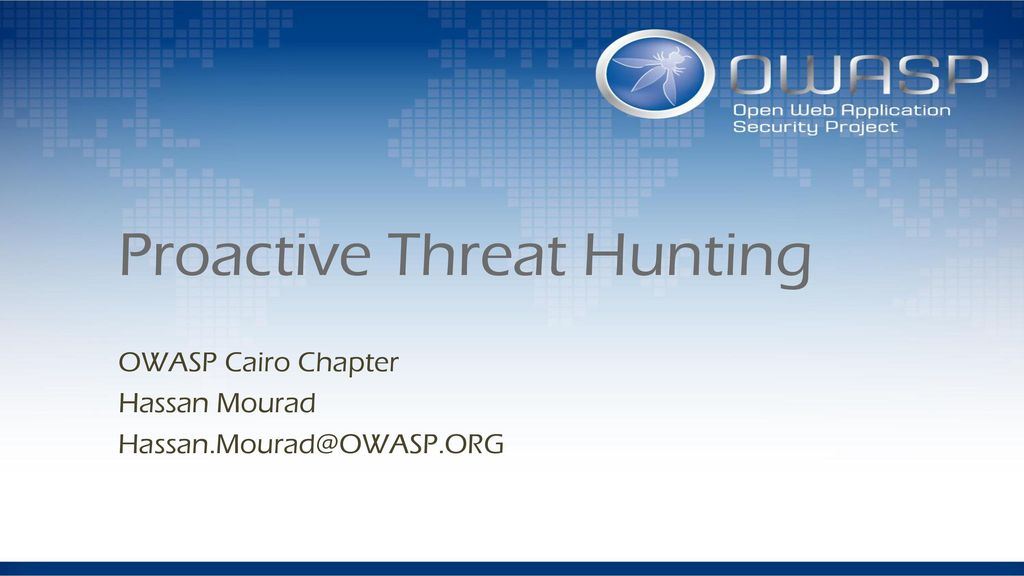 Proactive Threat Hunting - ppt download