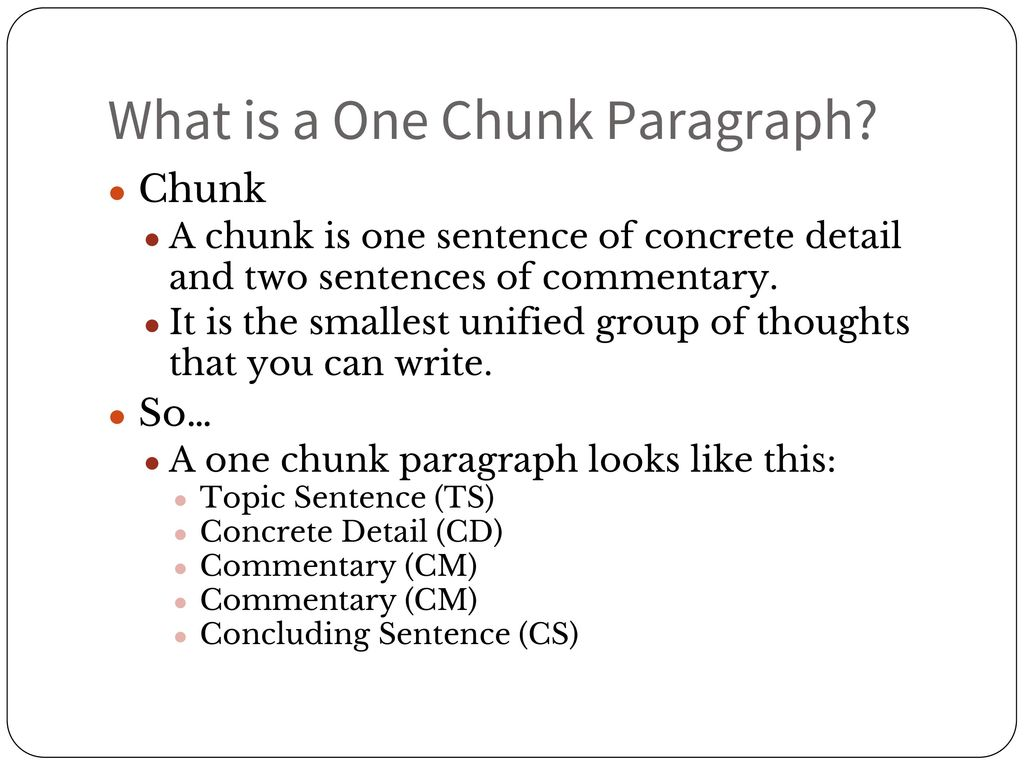 Writing: Body Paragraph Format - ppt download