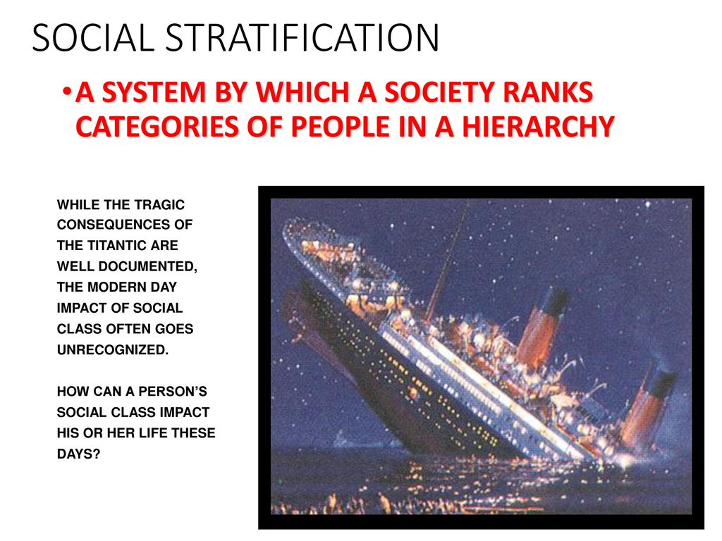 closed stratification system definition