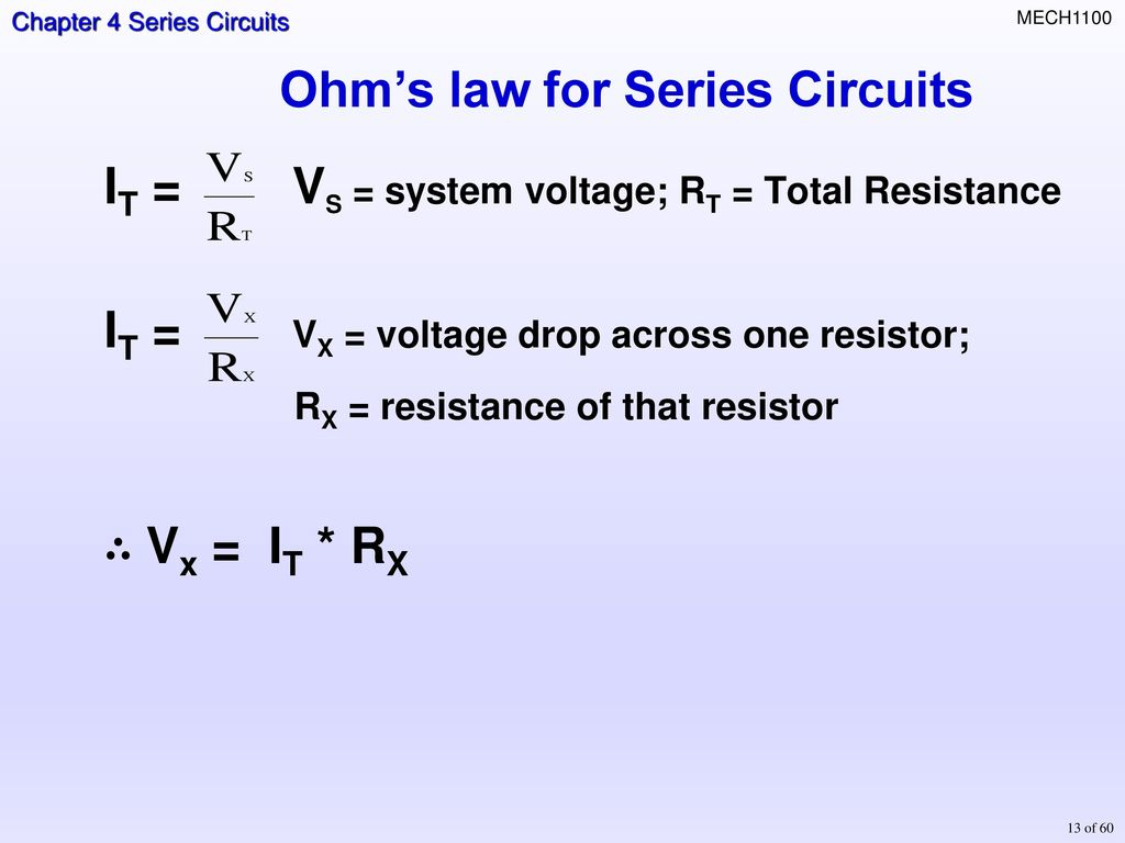 Topics Resisters In Series Total Resistance Current Ohms Law Voltage Drop A Circuit For Circuits