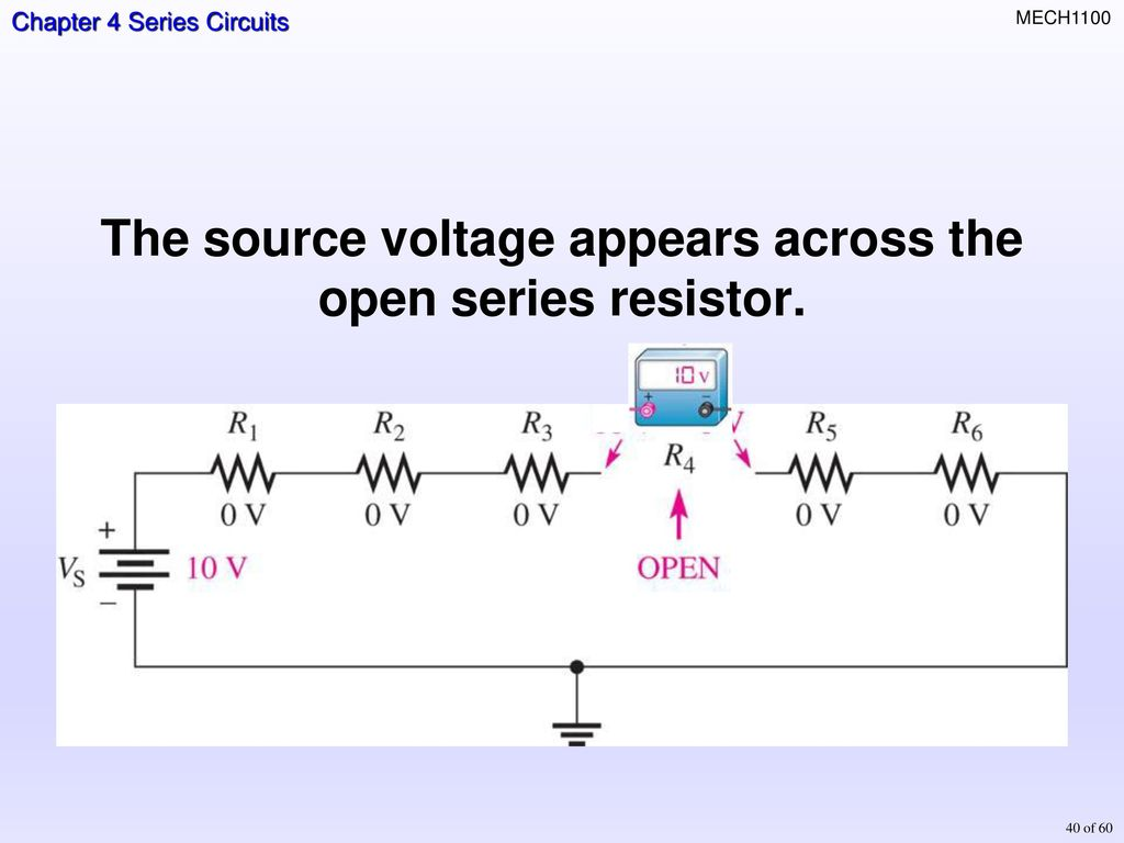 Topics Resisters In Series Total Resistance Current Ohms Law Open Circuit Diagram Power A