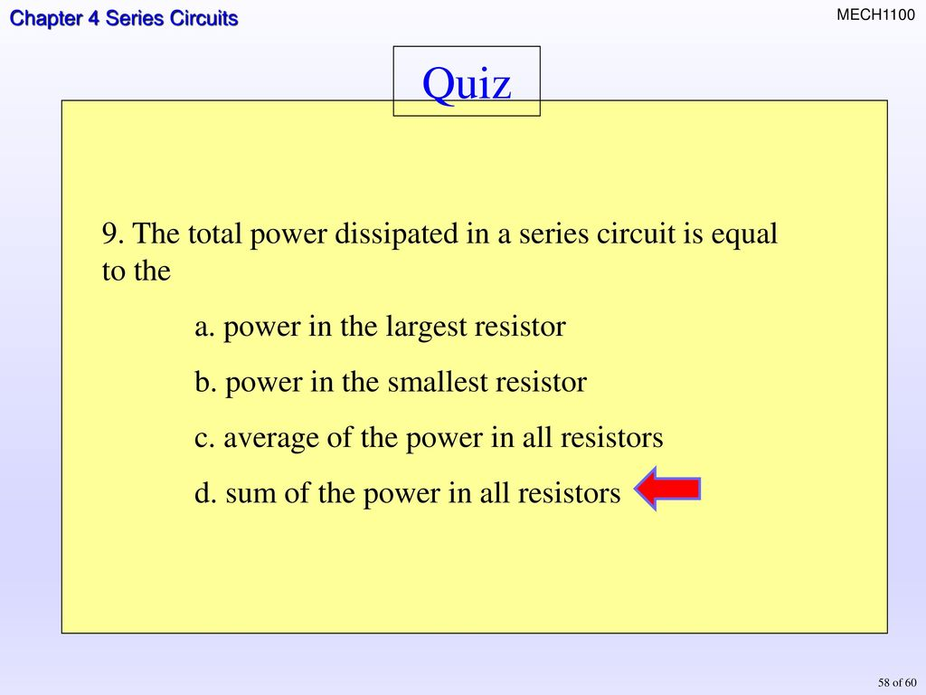 Topics Resisters In Series Total Resistance Current Ohms Law A Circuit If Three Equal Resistors Are The Is