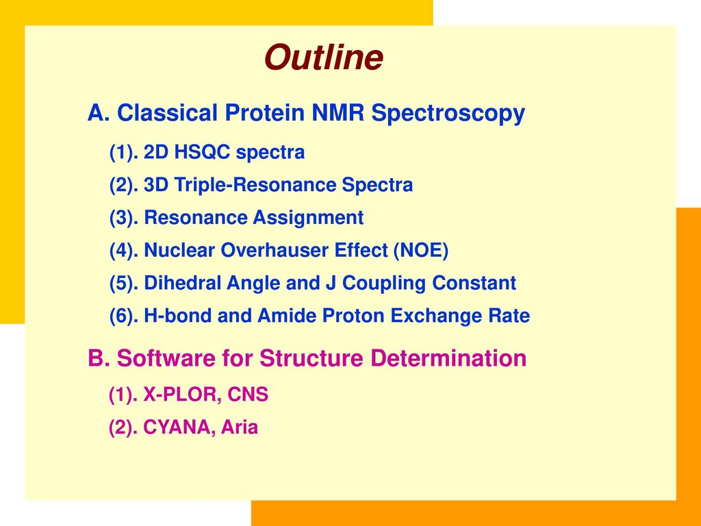 Protein Nmr Spectroscopy Institute Of Biomedical Sciences Ppt