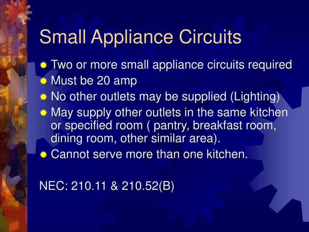 Planning The Electrical System Ppt Download Bedroom Afci Wiring Diagram Circuit Small Appliance Circuits