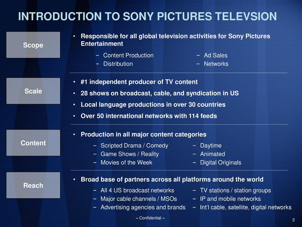 SONY PICTURES TELEVISION OVERVIEW FOR SIMON COWELL - ppt download