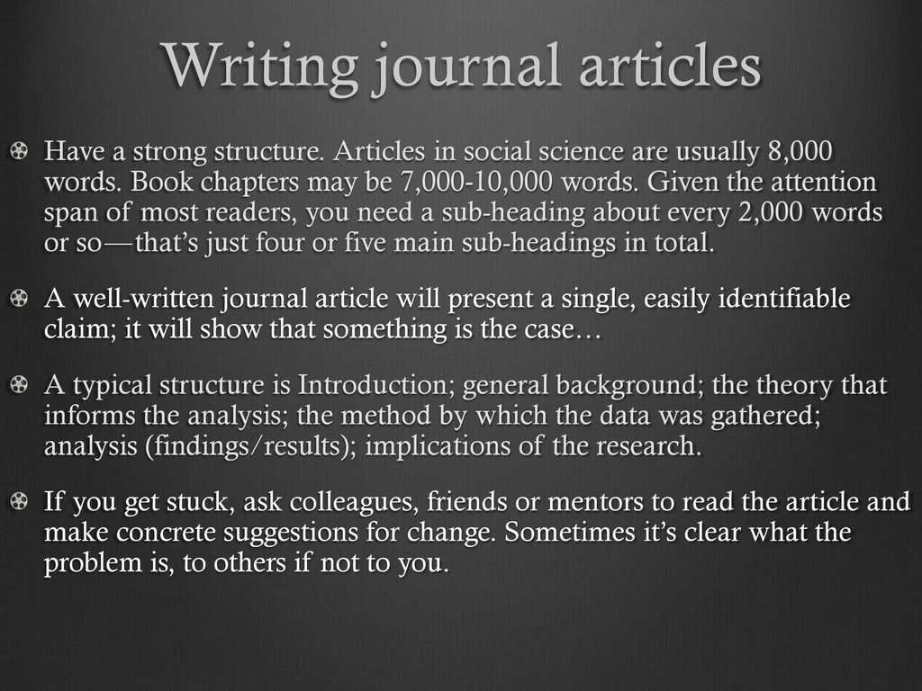 thesis statement in journal articles Turning thesis to a journal article while both contain similar sections, you cannot simply publish your thesis as a research article discuss results in context with your problem statement-that is the focus of your paper good language and structure are crucial - your paper may get rejected even.