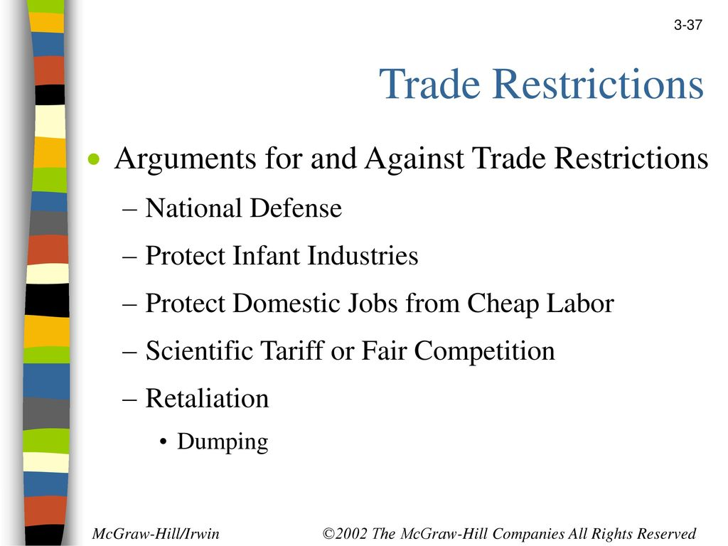 arguments against trade restrictions