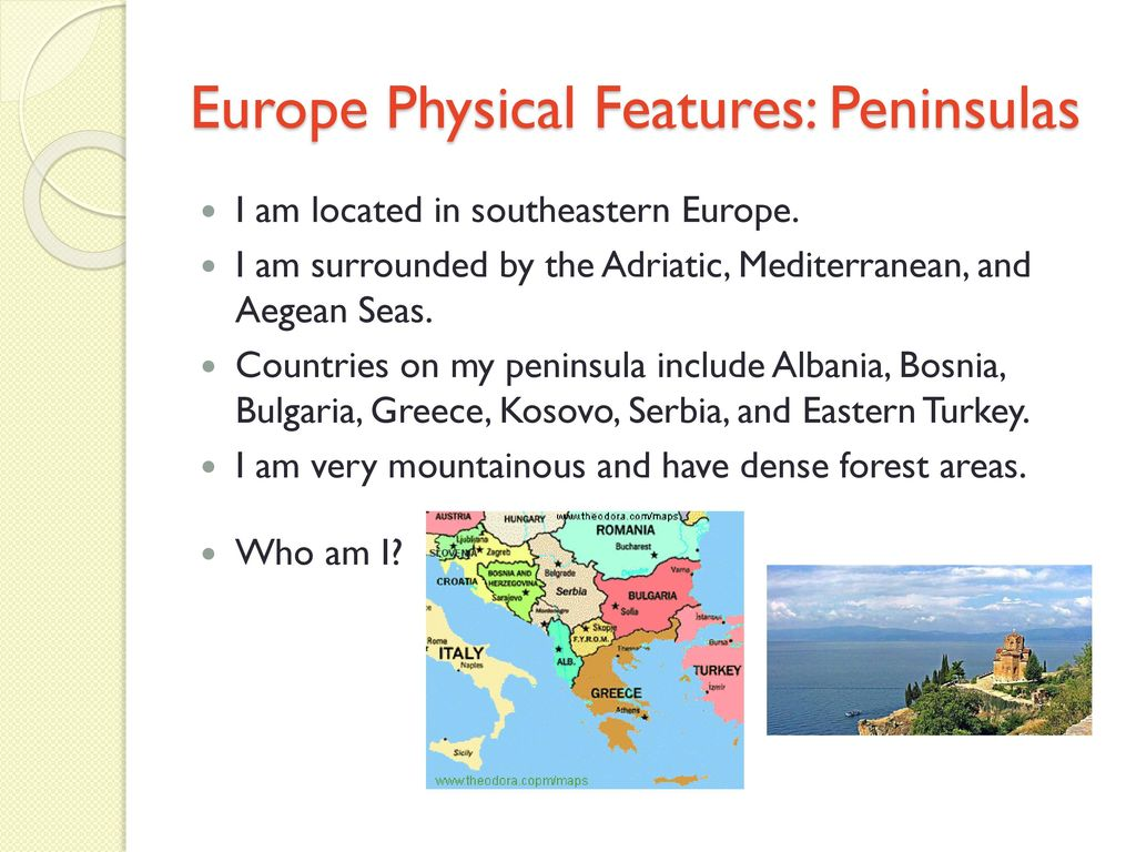 European Physical Features - ppt download