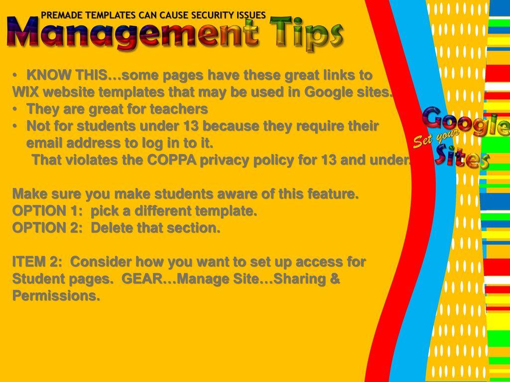 Google sites set your debbie ppt download 22 management maxwellsz