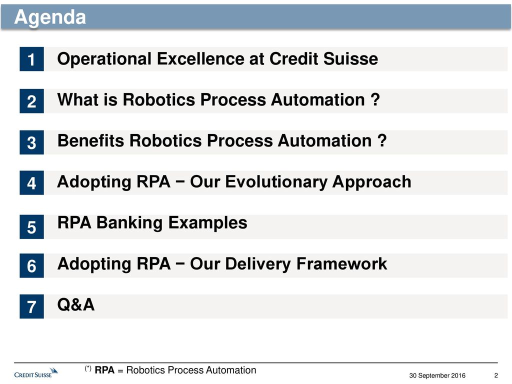 applying robotics process automation to drive operational excellence