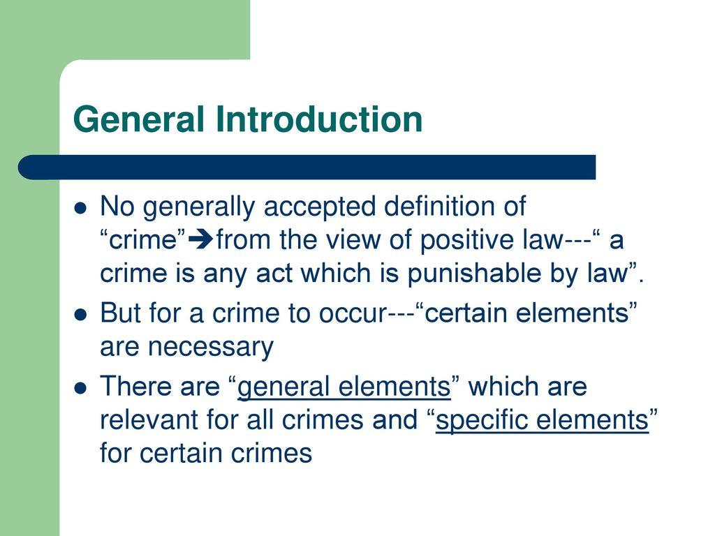 criminal law. - ppt download