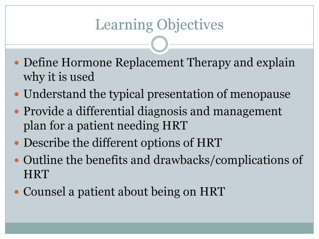 hormone replacement therapy - ppt download