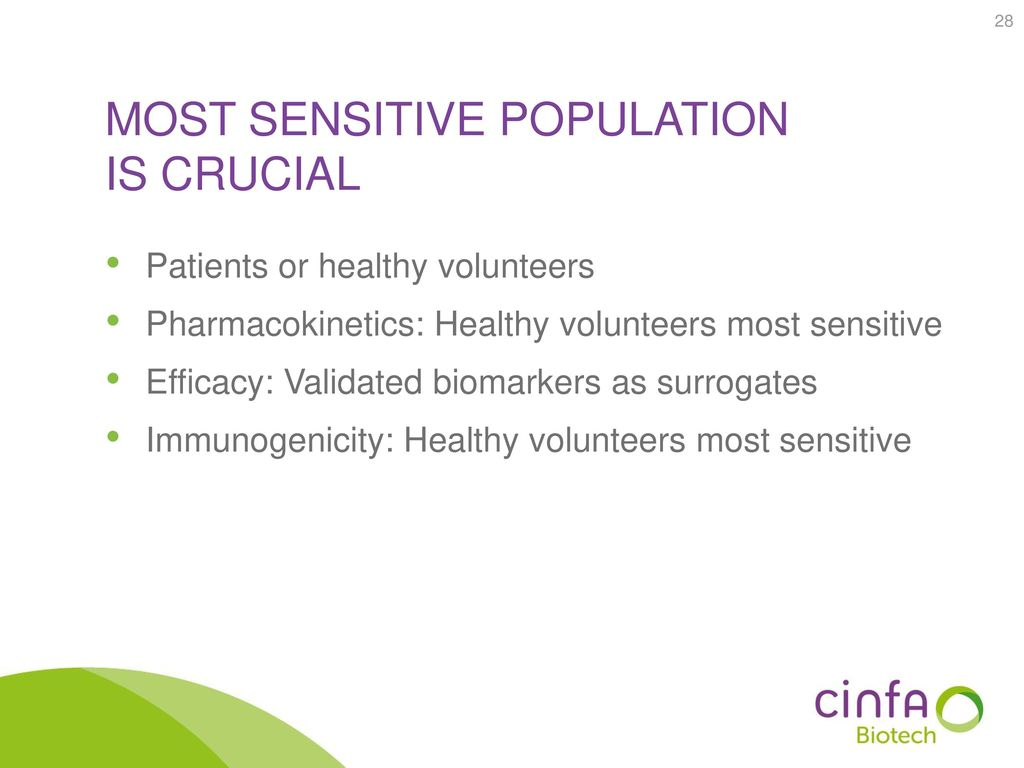 most sensitive population is crucial