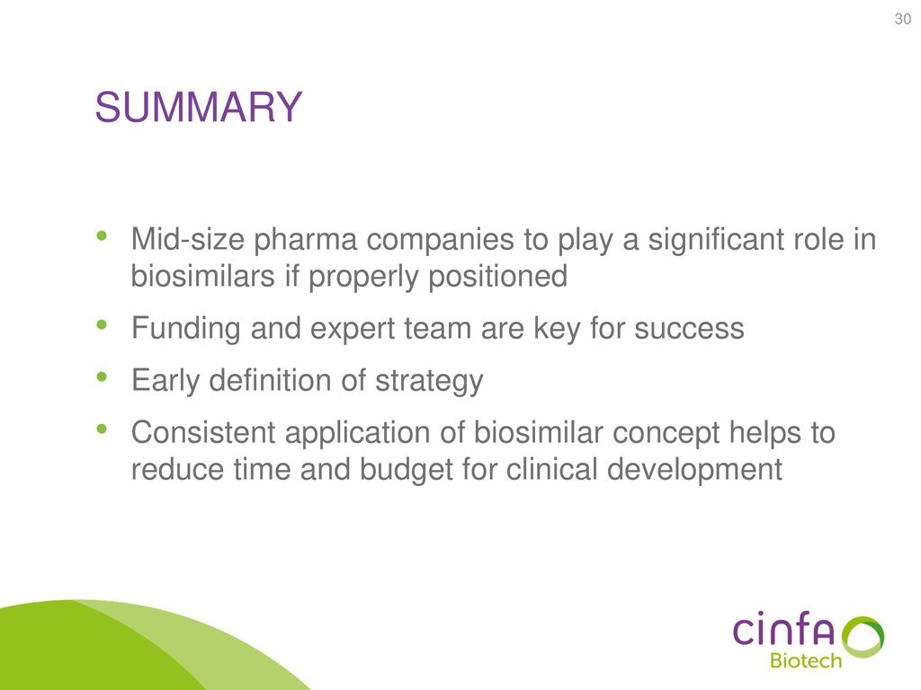 summary Mid-size pharma companies to play a significant role in biosimilars if properly positioned.